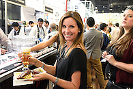 Sampling food and beer at the International StarChefs Congress at the Brooklyn Expo Center