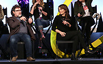 Jeff Richmond and Tina Fey on stage during Broadwaycon at New York Hilton Midtown on January 11, 2019 in New York City.