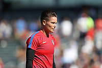 Cary, NC - Sunday October 22, 2017: Ashlyn Harris prior to an International friendly match between the Women's National teams of the United States (USA) and South Korea (KOR) at Sahlen's Stadium at WakeMed Soccer Park. The U.S. won the game 6-0.
