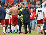 Pedro Caixinha with his players at full-time
