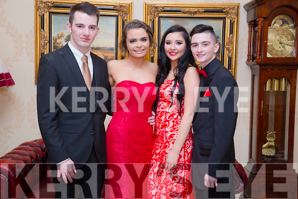 Enjoying the Mercy Mounthawk Debs at Ballyroe Heights Hotel on Tuesday were Jack Linnane, Tina O'Sullivan Emma Lonergan and Richard Horgan
