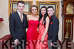 Enjoying the Mercy Mounthawk Debs at Ballyroe Heights Hotel on Tuesday were Jack Linnane, Tina O'Sullivan Emma Lonergan and Richard Horgan