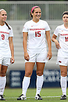 07 September 2014: Arkansas' Jessi Hartzler. The University of North Carolina Tar Heels played the University of Arkansas Razorbacks at Koskinen Stadium in Durham, North Carolina in a 2014 NCAA Division I Women's Soccer match. UNC won the game 2-1.