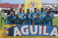MONTERIA - COLOMBIA, 02-09-2018: Jugadores del Jaguares posan para una foto previo al partido entre Jaguares de Córdoba y Atletico Nacional por la fecha 7 de la Liga Águila II 2018 jugado en el estadio Municipal de Montería. / Players of Jaguares pose to a photo prior the match between Jaguares of Cordoba and Atletico Nacional for the date 7 of the Liga Aguila II 2018 at the Municipal de Monteria Stadium in Monteria city. Photo: VizzorImage / Andres Felipe Lopez / Cont