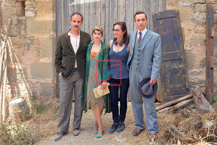 Visita Rodatge de 'Vida Privada'.<br /> Francesc Garrido, Aida Folch, Silvia Munt &amp; Pablo Derqui.