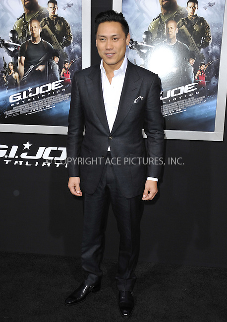 WWW.ACEPIXS.COM....March 28 2013, LA....Jon M. Chu arriving at the 'G.I. Joe: Retaliation' Los Angeles premiere at the TCL Chinese Theatre on March 28, 2013 in Hollywood, California.......By Line: Peter West/ACE Pictures......ACE Pictures, Inc...tel: 646 769 0430..Email: info@acepixs.com..www.acepixs.com