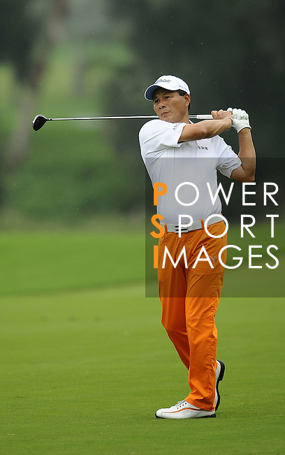 TAIPEI, TAIWAN - NOVEMBER 19:  Lu Chien Soon of Taiwan plays a shot on the 2nd hole during day two of the Fubon Senior Open at Miramar Golf & Country Club on November 19, 2011 in Taipei, Taiwan. Photo by Victor Fraile / The Power of Sport Images