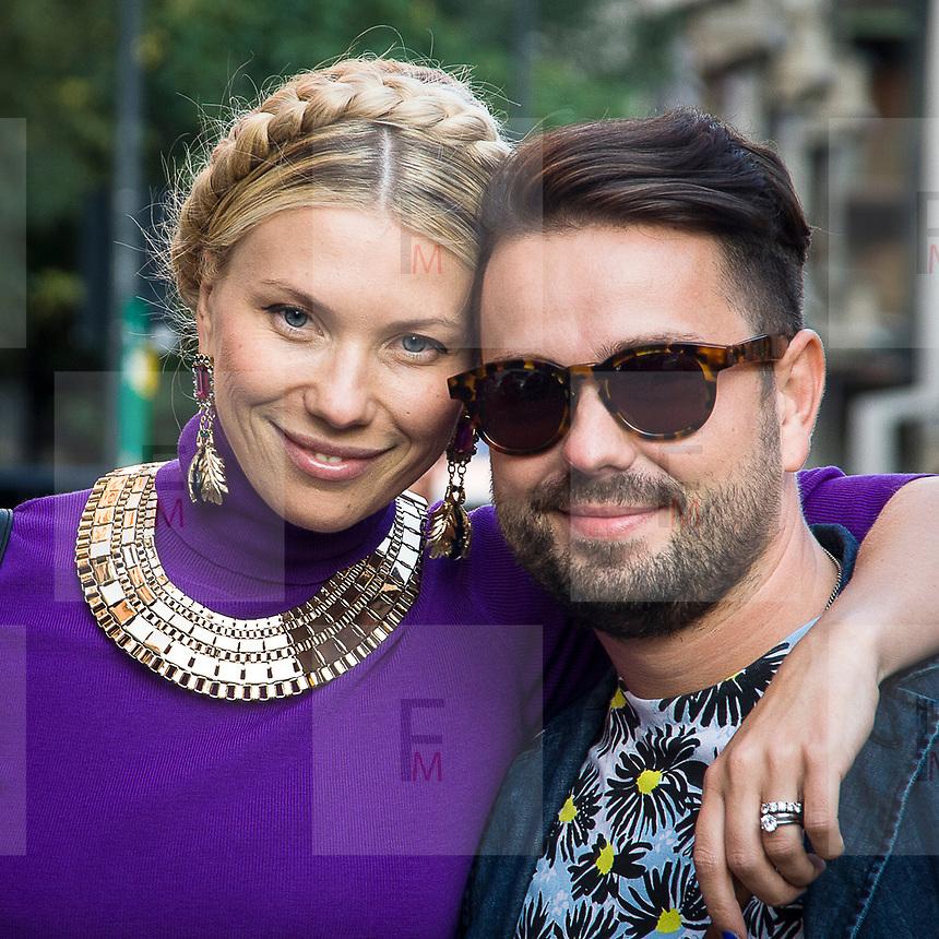 Il Secondo giorno della Settimana della Moda per le strade di Milano<br /> <br /> The second day of Milan Fashion Week in the town streets.