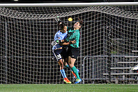 Piscataway, NJ - Sunday Sept. 25, 2016: Michelle Betos, Samantha Kerr during a regular season National Women's Soccer League (NWSL) match between Sky Blue FC and the Portland Thorns FC at Yurcak Field.