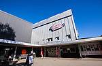 Huddinge 2015-09-20 Ishockey Division 1 Huddinge Hockey - S&ouml;dert&auml;lje SK :  <br /> Fasad vid entr&eacute;n p&aring; Bj&ouml;rk&auml;ngshallen inf&ouml;r matchen mellan Huddinge Hockey och S&ouml;dert&auml;lje SK <br /> (Foto: Kenta J&ouml;nsson) Nyckelord:  Ishockey Hockey Division 1 Hockeyettan Bj&ouml;rk&auml;ngshallen Huddinge S&ouml;dert&auml;lje SK SSK utomhus exteri&ouml;r exterior