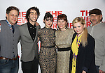 "Joe Tippett, Alex Wolff, Isabelle Fuhrman, Erica Schmidt, Abigail Breslin and Scott Elliott attend the Opening Night of The New Group World Premiere of ""All The Fine Boys"" at the The Green Fig Urban Eatery on March 1, 2017 in New York City."