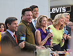 Chef Rocco Dispirito with George Stephanopoulos, JoshElliott, Lara Spencer and Sam Champion promoting his new book 'Now Eat This! Italian' on Good Morning America in Times Square on Tuesday, Sept. 25, 2012 in New York.