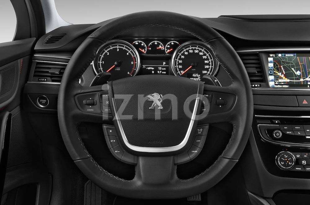 Car pictures of steering wheel view of a 2015 Peugeot 508 GT 4 Door Sedan 2WD Steering Wheel