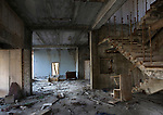 An abandoned house in Prypiat, Chernobyl exclusion zone