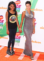 WESTWOOD, LOS ANGELES, CA, USA - JULY 17: Zola Ivy Murphy, Nicole Mitchell Murphy at the Nickelodeon Kids' Choice Sports Awards 2014 held at UCLA's Pauley Pavilion on July 17, 2014 in Westwood, Los Angeles, California, United States. (Photo by Xavier Collin/Celebrity Monitor)