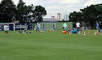 SAO PAULO, SP, 09 DE JANEIRO 2012 - TREINO S.E. PALMEIRAS - Jogadores do Palmeiras durante treino da equipe na Academia de Futebol, no bairro da Barra Funda, zona oeste de São Paulo, nesta segunda-feira (09). O time se prepara para a abertura do Campeonato Paulista de 2012. (FOTO: DEBBY OLIVEIRA - NEWS FREE).