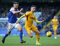 Preston North End's Alan Browne gets away from Ipswich Town's Cole Skuse<br /> <br /> Photographer David Shipman/CameraSport<br /> <br /> The EFL Sky Bet Championship - Ipswich Town v Preston North End - Saturday 3rd November 2018 - Portman Road - Ipswich<br /> <br /> World Copyright &copy; 2018 CameraSport. All rights reserved. 43 Linden Ave. Countesthorpe. Leicester. England. LE8 5PG - Tel: +44 (0) 116 277 4147 - admin@camerasport.com - www.camerasport.com