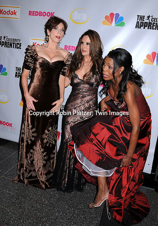 """Marilu Henner, Nely Galan and Omarosa.at """"The Celebrity Apprentice"""" after party for the March 27th, 2008 Finale sponsored by Vera Wang by Serta, Redbook and Kodak at The Rock Center Cafe in Rockefeller Center in New York City...Robin Platzer, Twin Images"""