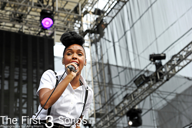 Janelle Monae performs during Day 1 of the Made in America Music Fesival in Philadelphia, Pennsylvania.