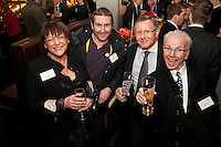 All smiles - pictured from left are Mercedes Barrowcliffe of Salloway, Simon Winfield of Phoenix Technology, Simon Skill of Skills Leisure and Franco Ciaurro of CEMA