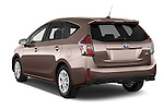 Car pictures of rear three quarter view of a 2015 Toyota Grand Prius+ 5 Door Mini Van angular rear