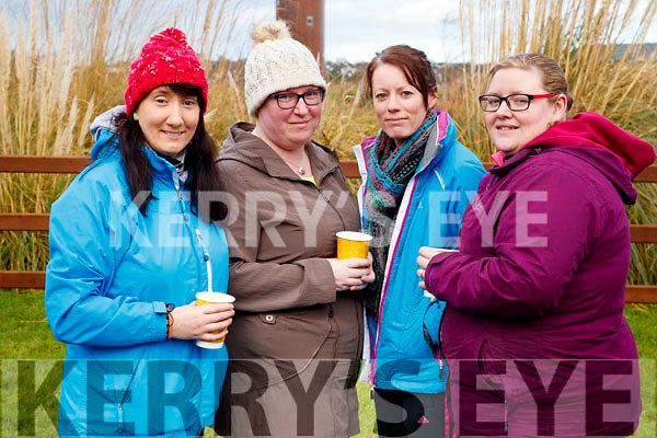 Jane Guerin, Helga O'Brien, Kate Malone and Emma McElligott, all from Tralee, pictured at the Operation Transformation Walk at Tralee Bay Wetlands on Saturday morning last.