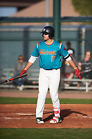 Victor Mederos(17) of Monsignor Edward Pace High School in Miami, Florida during the Baseball Factory All-America Pre-Season Tournament, powered by Under Armour, on January 14, 2018 at Sloan Park Complex in Mesa, Arizona.  (Zachary Lucy/Four Seam Images)