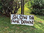 Slow Da Faak Down Sign