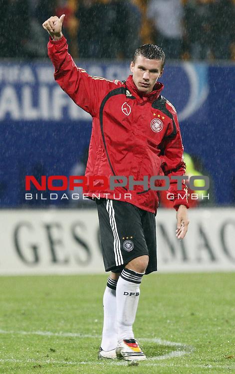 WM-Qualifikation 2010<br /> Lichtenstein : Deutschland<br /> <br /> Lukas Podolski (Deutschland #10)<br /> <br /> Foto &not;&copy; nph (  nordphoto  )