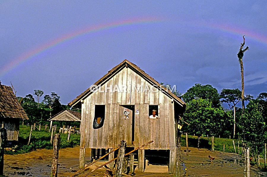Casa de seringueiro, Xapuri. Acre. 1998. Foto de Ricardo Azoury.