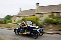 Vintage Standard car made in Coventry, on a Veteran Car Club rally around Gloucestershire, United Kingdom