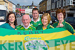 Killarney Vintners are showing their support for the Kerry team as they covered the streets in the town with Kerry flags on tuesday l-r: Valarie O'callaghan, Eddie Tatler O'Sullivan, Paudie O'Callaghan, Han Linehan and Eileen O'Callaghan