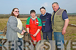REPAIRS: Carryingt out repars on his tractor on Sunday on James Healy Land at the Ardfert Ploughing competition. L-r: Martina Flynn and Chris Barrett(Causeway), Willie Stokes and Timmy Horan (Castleisland)................... . ............................... ..........