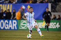 Argentina forward Ezequiel Lavezzi (22). Argentina and Ecuador played to a 0-0 tie during an international friendly at MetLife Stadium in East Rutherford, NJ, on November 15, 2013.