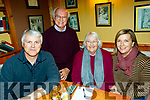 L-R Aidan Falvey, Derek&Alison Petley with Jane Boyle taking part in the Kerry Choral Union fundraising quiz in Stokers Lodge, Tralee last Friday night.