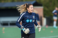 Boston, MA - Sunday May 07, 2017: Katelyn Rowland prior to warmups before a regular season National Women's Soccer League (NWSL) match between the Boston Breakers and the North Carolina Courage at Jordan Field.