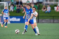 Boston, MA - Friday August 04, 2017: Morgan Andrews and Christina Gibbons during a regular season National Women's Soccer League (NWSL) match between the Boston Breakers and FC Kansas City at Jordan Field.