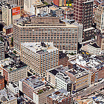 Tribeca New York City Canal St. Varick St. Laight St. Holland Tunnel helicopter aerial