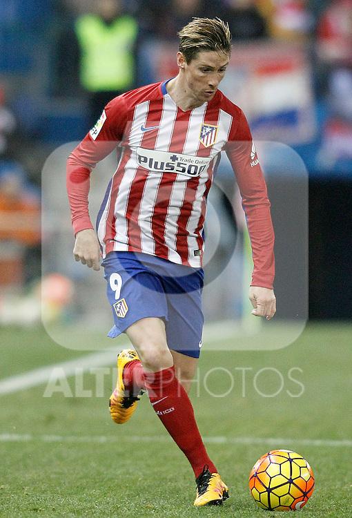 Atletico de Madrid's Fernando Torres during La Liga match. February 21,2016. (ALTERPHOTOS/Acero)