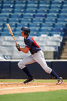 Matthew Stevens (23) of Charlotte Catholic High School in Charlotte, North Carolina playing for the Cleveland Indians scout team during the East Coast Pro Showcase on August 3, 2016 at George M. Steinbrenner Field in Tampa, Florida.  (Mike Janes/Four Seam Images)