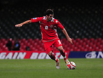 Joe Ledley on the ball. Wales v Azerbaijan.Group 4, 2010 World Cup Qualifier. © Ian Cook IJC Photography iancook@ijcphotography.co.uk www.ijcphotography.co.uk