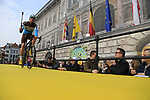 AG2R La Mondiale at the team presentation in Antwerp before the start of the 2019 Ronde Van Vlaanderen 270km from Antwerp to Oudenaarde, Belgium. 7th April 2019.<br /> Picture: Eoin Clarke | Cyclefile<br /> <br /> All photos usage must carry mandatory copyright credit (&copy; Cyclefile | Eoin Clarke)