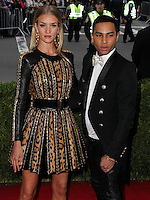 "NEW YORK CITY, NY, USA - MAY 05: Rosie Huntington-Whiteley, Olivier Rousteing at the ""Charles James: Beyond Fashion"" Costume Institute Gala held at the Metropolitan Museum of Art on May 5, 2014 in New York City, New York, United States. (Photo by Xavier Collin/Celebrity Monitor)"