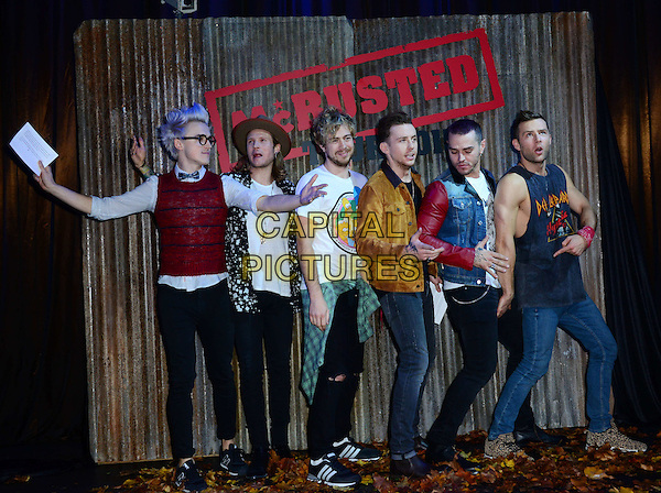 McBusted, supergroup formed in November 2013, made up of McFly and Busted's James Bourne and Matt Willis, host 'morning bonfire party' to make a very special announcement of new tour in 2015. <br />  CAP/JOR<br /> &copy;Nils Jorgensen/Capital Pictures