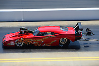 Apr. 14, 2012; Concord, NC, USA: NHRA pro mod driver Peter Farber during qualifying for the Four Wide Nationals at zMax Dragway. Mandatory Credit: Mark J. Rebilas-