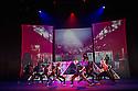 London, UK. 18.10.2013. Boy Blue Entertainment perform THE FIVE AND THE PROPHECY OF PRANA at the Barbican theatre. Dancers are: Michele 'Paleta' Rhyner, Bradley 'Bradz' Charles, Theo 'Godson' Oloyade, Kofi 'Klik' Mingo, Xena Gusthart, Vicky 'Skytilz' Mantey, Duwane Taylor, Kayla Lomas-Kirton, shaun Smith, Hakim Saber and Jumar Aben. Picture shows: Jumar Aben, Theo 'Godson' Oloyade, Michele 'Paleta' Rhyner, Bradley 'Bradz' Charles, Xena Gusthart. Photograph © Jane Hobson.