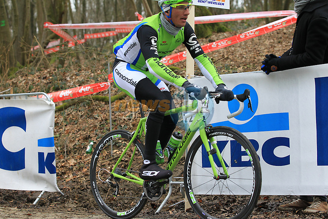 Riders including Mauro Da Dalto (Cannondale Procycling Team) climb Kemmelberg for the first time during the 75th edition of Gent-Wevelgem, Belgium, 24th  March 2013 (Photo by Eoin Clarke 2013)