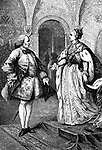 Denis Diderot and Catherine II / Catherine the Great - portrait of the French philosopher and writer meeting with the empress of Russia. DD: 5 October 1713 - 31 July 1784. C: 21 April 1729 - 6 November 1796, empress 28 June 1762 - 6 November 1796.