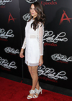 HOLLYWOOD, LOS ANGELES, CA, USA - MAY 31: Troian Bellisario at the 'Pretty Little Liars' 100th Episode Celebration held at W Hotel Hollywood on May 31, 2014 in Hollywood, Los Angeles, California, United States. (Photo by Xavier Collin/Celebrity Monitor)