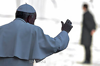 Pope Francis  during his weekly general audience in St. Peter square at the Vatican, Wednesday.December 2, 2015.